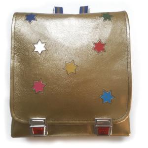 Schulrucksack mit Sternen gold