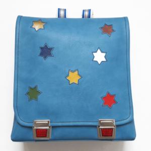 Schulrucksack mit Sternen hellblau