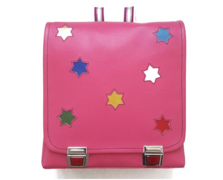 Rucksack mit Sternen pink