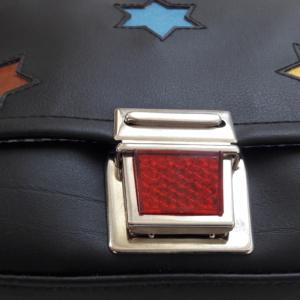 Kindergartentasche Star schwarz detail3