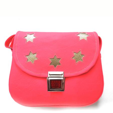 Kindergartentasche neon pink