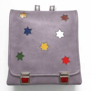 Rucksack mit Sternen grau multi